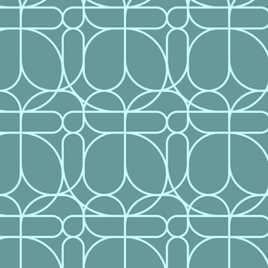 Organic - Pisano - Turquoise - Bold Contrast
