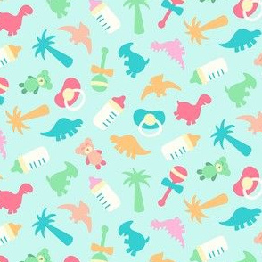 Tossed Baby Dinos