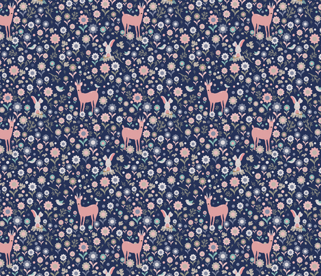 In the Meadow Together - Mauve fabric by curtis_mcgintus on Spoonflower - custom fabric