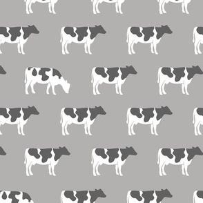 cows on grey - farm life C18BS