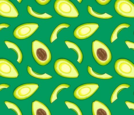 Avocado, Dark Green fabric by bambi_illustrates on Spoonflower - custom fabric