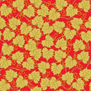 Grape Leaf Gold red
