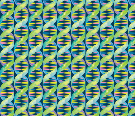Unicorn DNA fabric by marketa_stengl on Spoonflower - custom fabric
