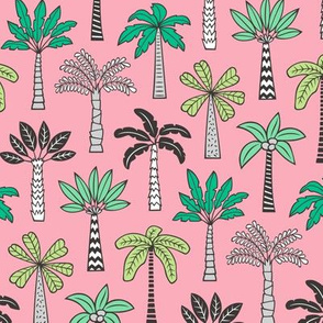 Palm Trees on Pink Smaller
