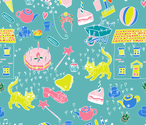 princess fabric by claireybean on Spoonflower - custom fabric