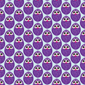 Purple Cartoon Owl