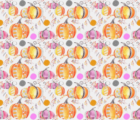 Pretty Pumpkins fabric by floramoon on Spoonflower - custom fabric