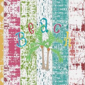 Beach colors- Palms 1876 - Whitewash lagoon stripes