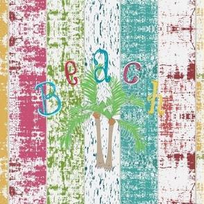 Beach colors- Palms 8 - Whitewash lagoon stripes