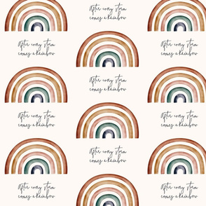 Rainbow Baby Ecru background || Rainbow Seamless || After Every Storm Comes a Rainbow