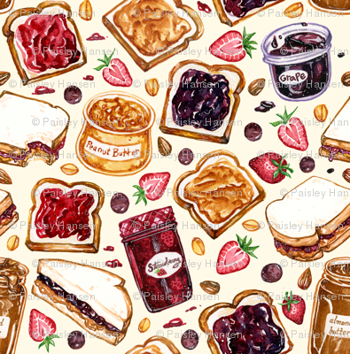 Peanut Butter and Jelly Watercolor