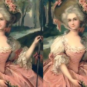 Marie Antoinette inspired pink gowns flowers floral roses baroque victorian shepherdess little bo peep nursery rhymes forests trees rivers bows vintage antique crook bonnets big hats beauty rococo portraits beautiful lady woman elegant gothic lolita egl 1