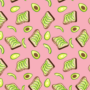 Avocados and Toast, Pink
