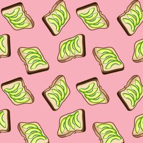 Avocado Toast, Pink