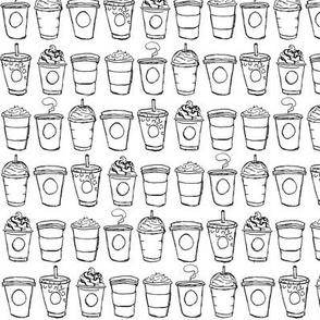 Coffee To-Go - Mini Black and White
