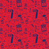 The Doctor: 45% of full size: Red