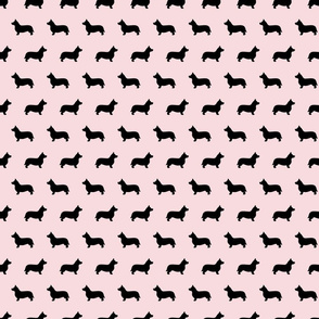 Corgi Pink Silhouettes