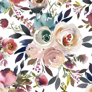 Indigo Dusk Floral Medium