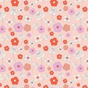 Peach Field of Daisies