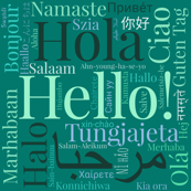 Green Hello Multilingual