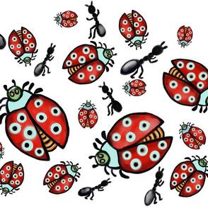 ladybug and ant