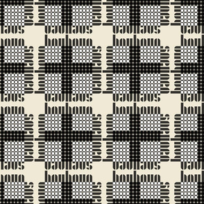 bauhaus plaid white/cream/black