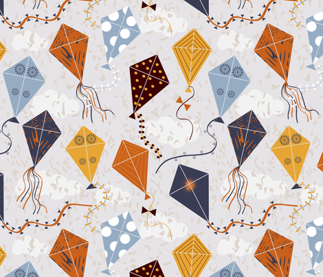 lets fly a kite fabric by gkumardesign on Spoonflower - custom fabric