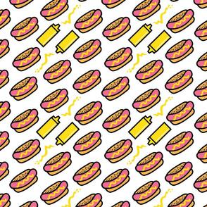 aloha hot dog with mustard