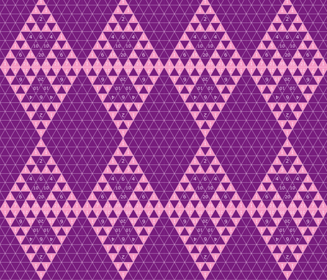 Pascal's Sierpinski Argyle fabric by learning on Spoonflower - custom fabric