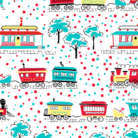 All Aboard fabric by tuppencehapenny on Spoonflower - custom fabric