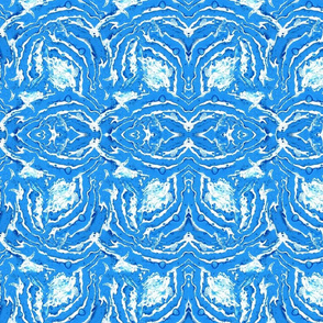 Blue abstract fluid art pattern
