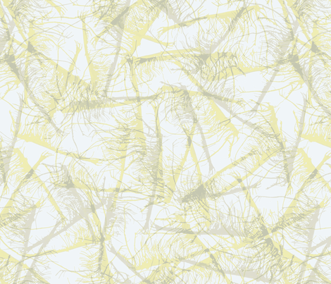 roots-ink-yellow fabric by wren_leyland on Spoonflower - custom fabric