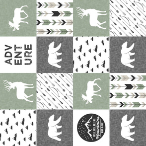 love you to the mountains and back - sage and grey - adventure patchwork (90)