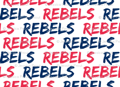 Rebels - Red and blue