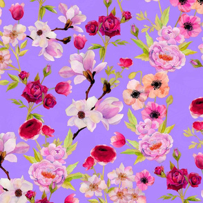 Born To Ramble Floral Lilac
