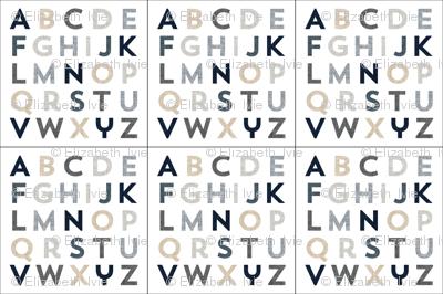 6 loveys: neutral alphabet