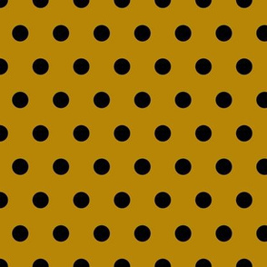 black and gold polka dots