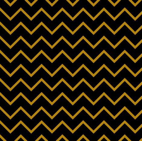 black and gold chevron  fabric by littlearrowdesign on Spoonflower - custom fabric