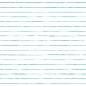 Small Aqua / Teal Blue Watercolor Stripe