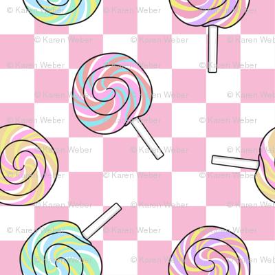 Lollipops, Pink Check
