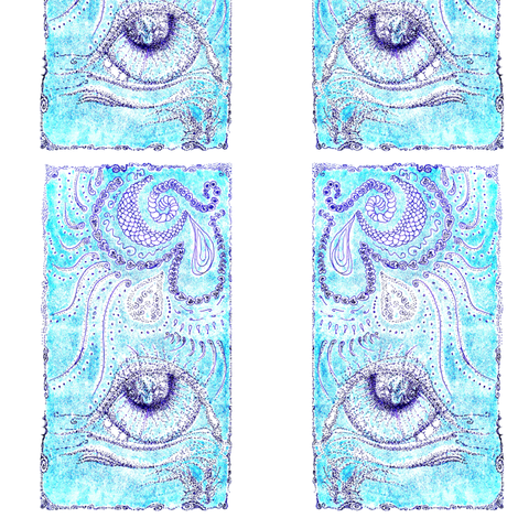 Print #1 with stippling & ink line fabric by cloudsong_art on Spoonflower - custom fabric