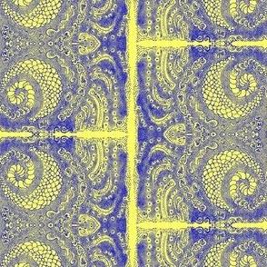 Print/Line/Stippling-Cobalt/Lemon
