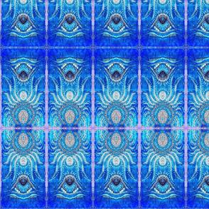 Print/Line/Stippling- Cobalt/Lilac