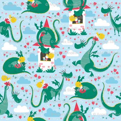 princess dragon pattern