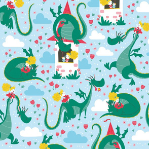 princess dragon pattern