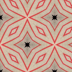 Geometric Star & Diamond on Canvas 1