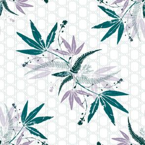Geometric Leaf Bouquet