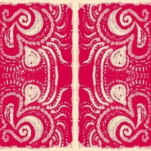 Tribal print crop vibrant red