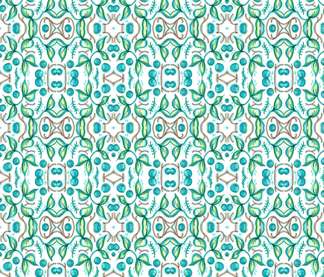 emerald waters fabric by printyplease on Spoonflower - custom fabric