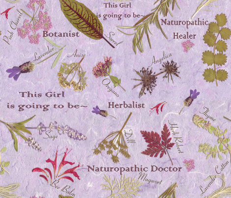 Naturopathic Princess fabric by mypetalpress on Spoonflower - custom fabric